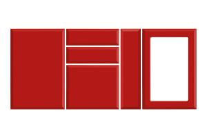 MDF Infoliat High Gloss Mobila Euroving 1